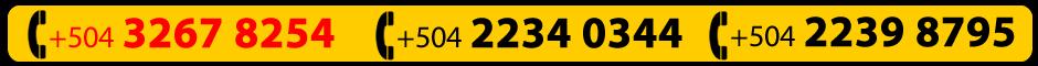 Cel.+504 9940 2607, Cel. 3267 8254, Tel. 2234 0344, Tel. 2239 8795